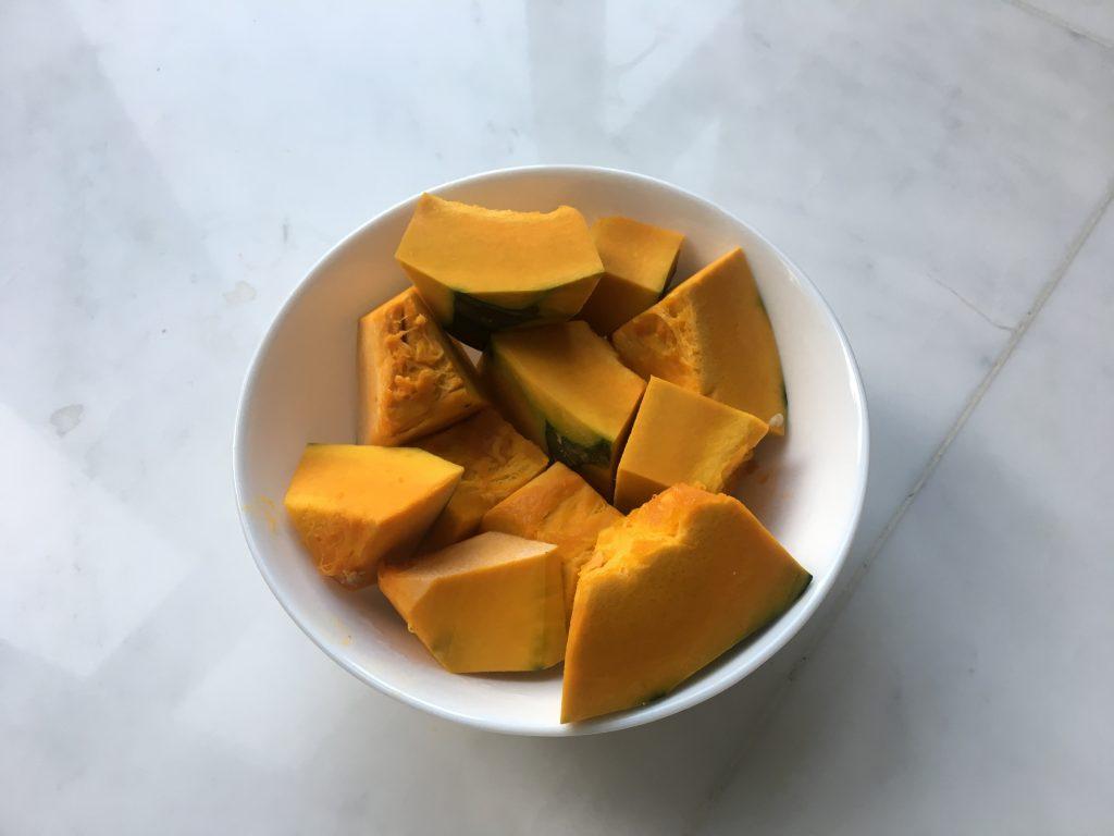 かぼちゃをチン