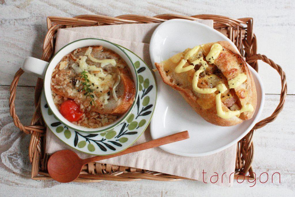 5分で完成!市販の◯◯でお手軽「トマトオニオングラタンスープ」♪