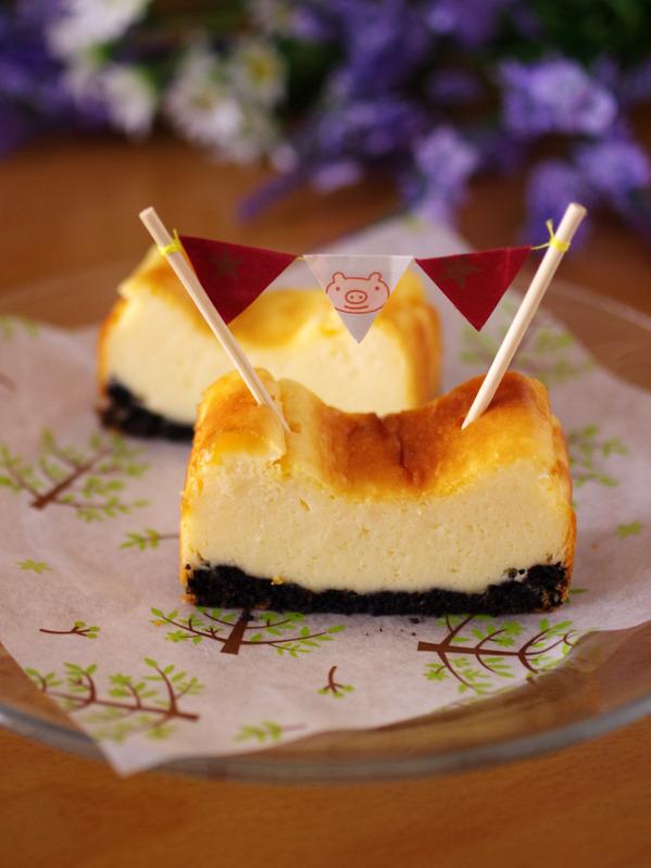 ホットケーキミックスで超手軽&簡単チーズケーキ(ベイクドタイプ) by:めろんぱんママさん