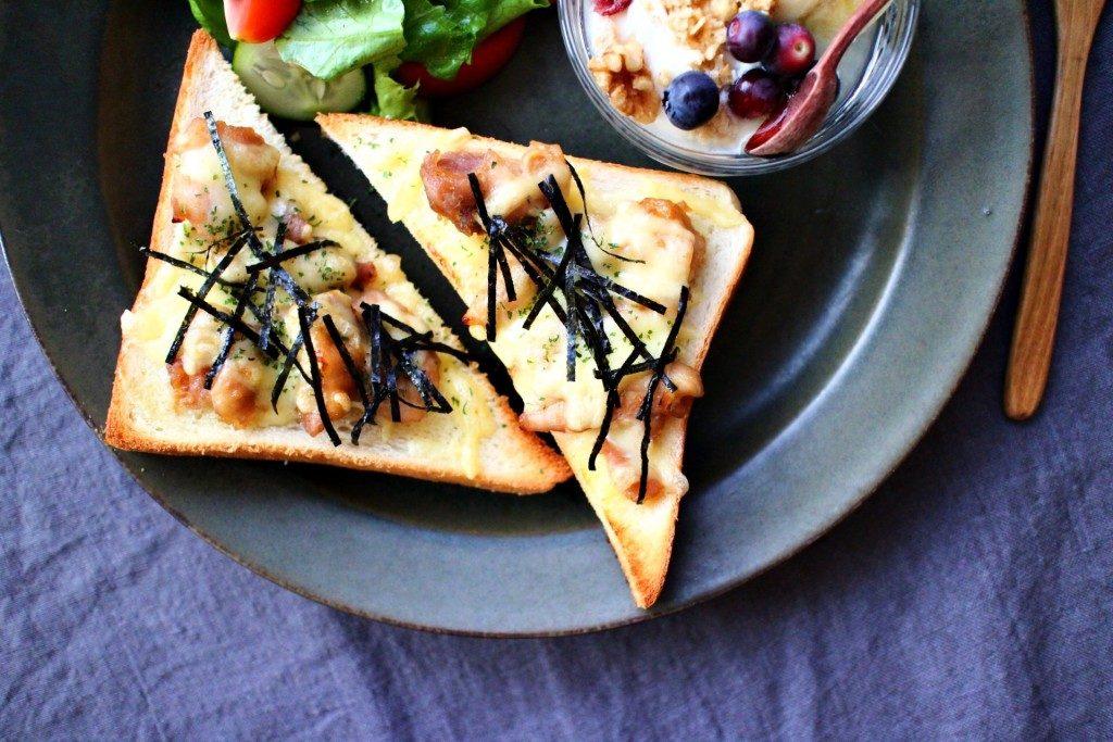 レンジで1発!!照り焼きチキンのからしマヨチーズトーストのワンプレート by:五十嵐ゆかりさん