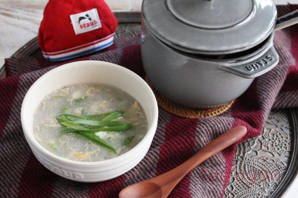 風邪予防に!5分でできちゃう「れんこんとネギのとろとろスープ」♪ by:タラゴン(奥津純子)さん