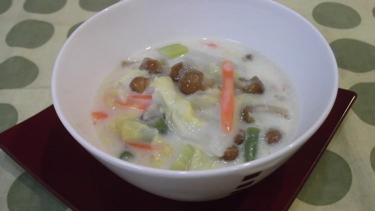 なめこ&野菜たっぷりクリーム煮 by:まんまるらあてさん