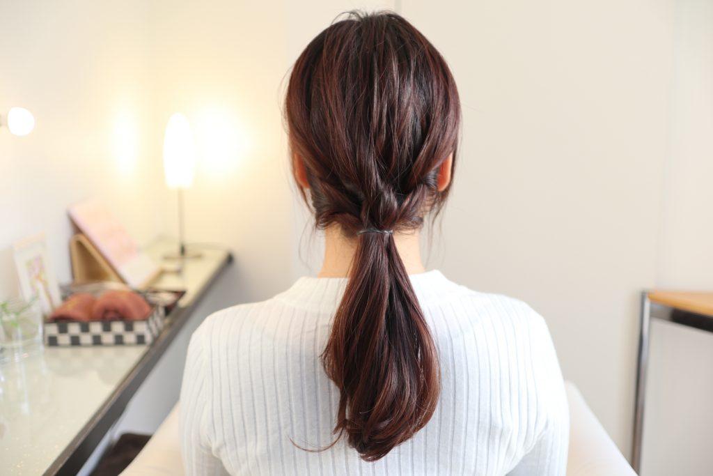 シンプルなまとめ髪