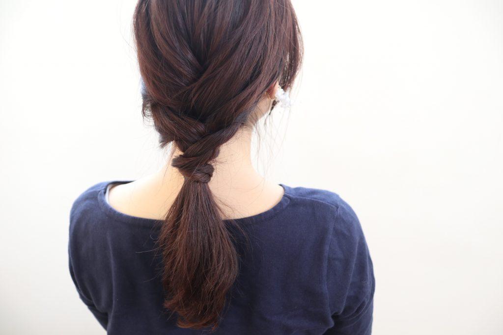巻かずにできて簡単!華やか見え「編み込みヘア」