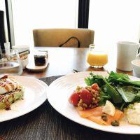 お好み焼き+エッグベネディクト!?まさに大阪!ホテル朝食☆【コンラッド大阪】