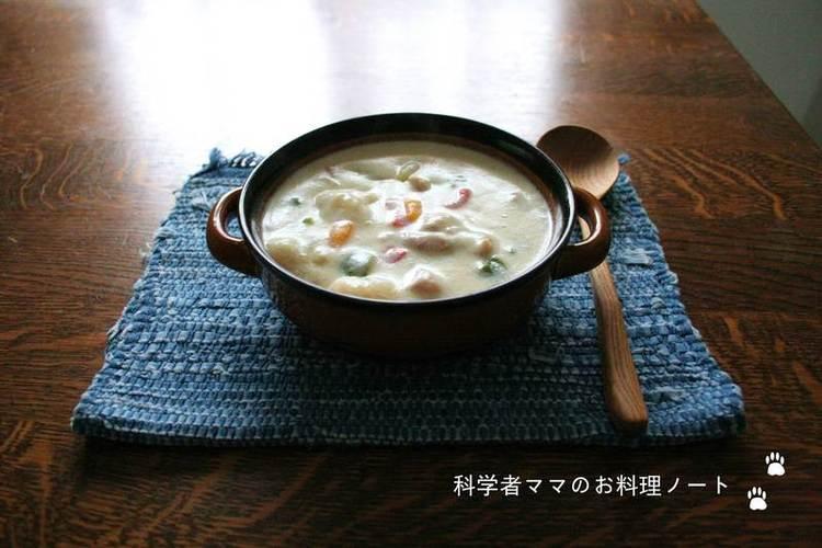 すいとん入り豆乳スープ by:nickyさん