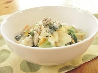 肉野菜炒めの材料で クリーム煮レシピ