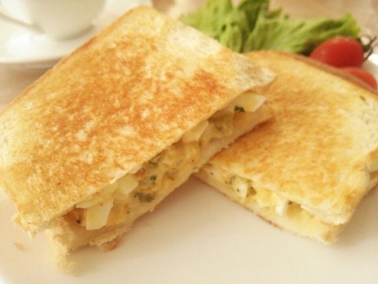 卵のホットサンド《朝ごはん・ブランチに》 by:anさん