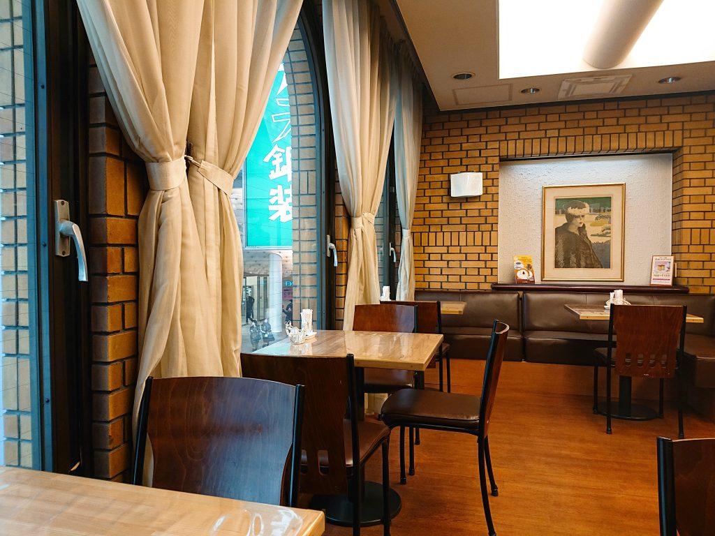 カステラ銀装のカフェ