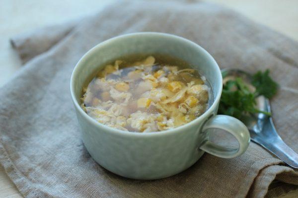 ふわふわ卵をもっと美味しく♪「中華風コーンスープ」