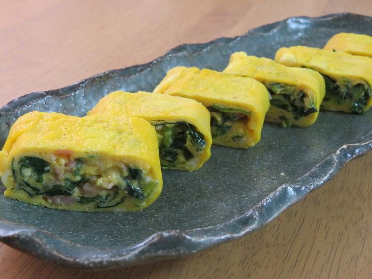お弁当に♪ほうれん草とベーコン卵巻き by:kaana57さん