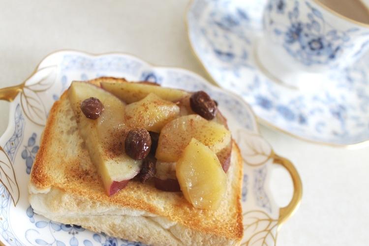 さつまいもとりんごのコンポートでトースト by:雪葉さん