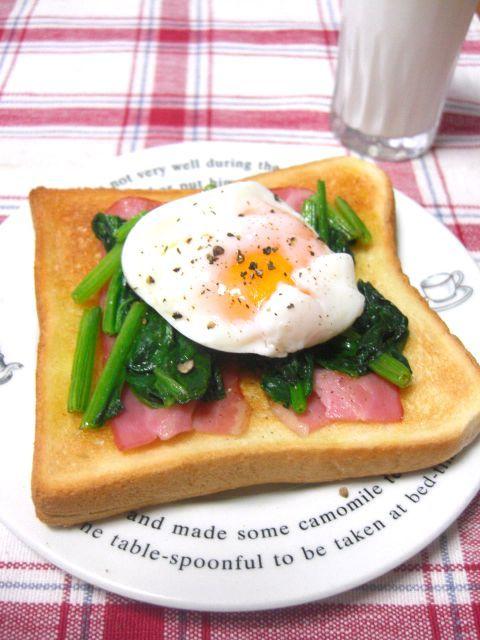 ポパイのベーコンエッグトースト by:ゆりりんさん