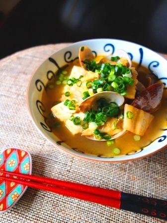 アサリと豆腐の味噌チゲスープ by:Y'sさん