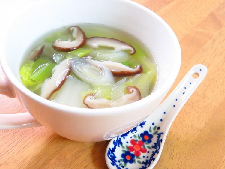 ほっこり簡単♪白菜と椎茸の葱生姜スープ by:kaana57さん