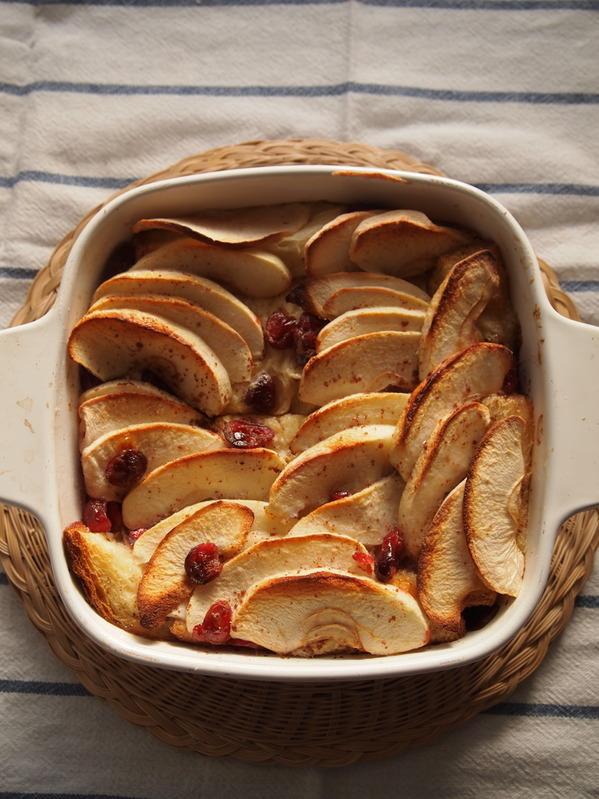 アップルクランベリーのオーブン焼きフレンチトースト by:イクノさん