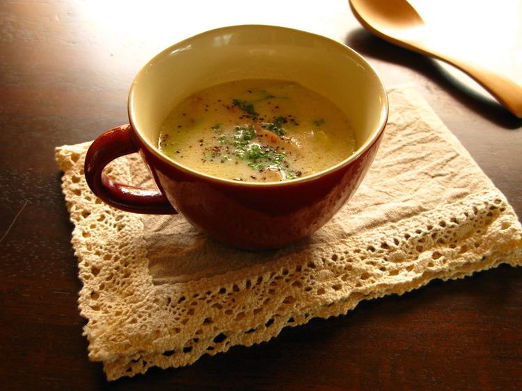 キャベツと厚切りベーコンのコンソメミルクスープ by:言葉さん