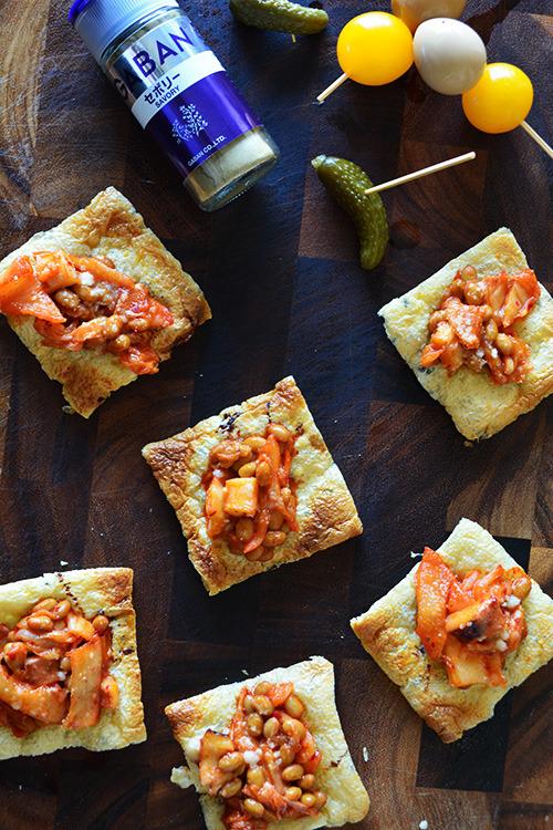 ヨーグルトキムチ納豆の油揚げピザ 簡単 節約 5分 子どもおやつ大人つまみ by:青山 金魚さん