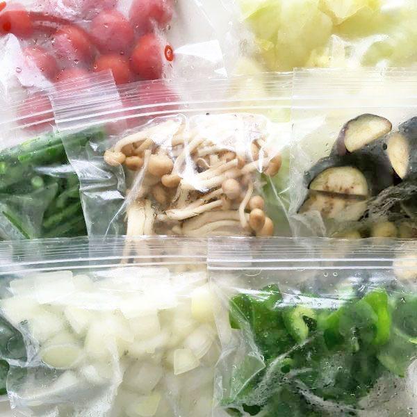 「ぜーんぶ生のまま♪「自家製冷凍カット野菜」が便利!」
