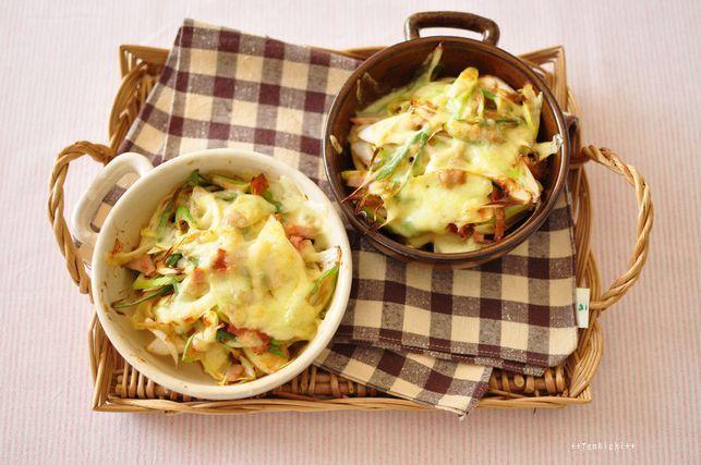 長ネギとベーコンのもっチーズ焼き by:かな姐さん