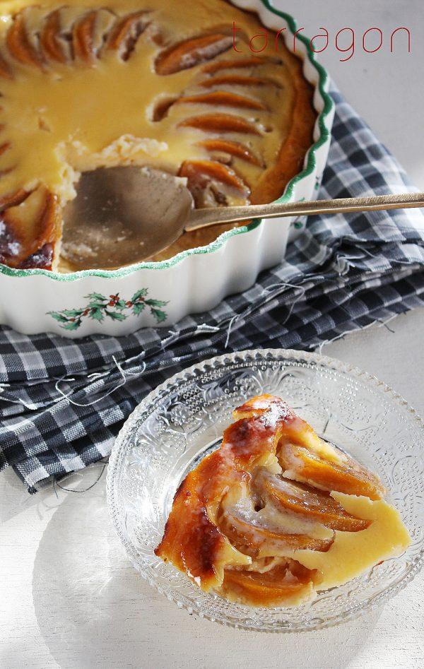 【フォークで混ぜて焼くだけ♪簡単ヘルシー「柿とヨーグルトのクラフティ」 by:タラゴン(奥津純子)さん