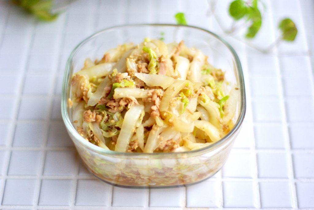 白菜を使い切る!10分で簡単「白菜とツナの中華風」の作り置き