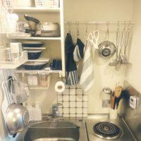 狭くても使いやすく!「ワンルームのキッチン」すっきり収納術3つ