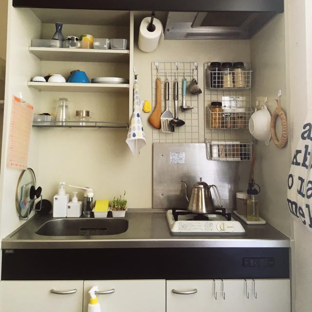 狭くても使いやすく!「ワンルーム/1Kキッチン」のすっきり収納