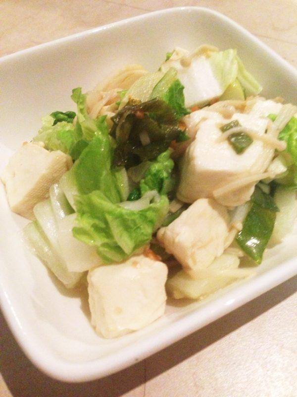 温活!白菜とお豆腐コク炒め* by:yumipo.a*さん