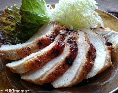 節約はやうま!~焼肉のたれで簡単~鶏むね肉のローストチキン(作りおき) by:satohahaさん