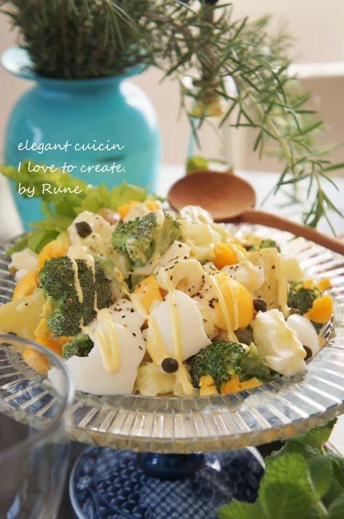 ビタミンCたっぷりポテトとブロッコリーのボリュームサラダ by:Runeさん