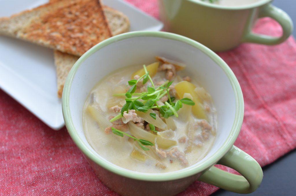 ひき肉なら時短!ほっこり温まる「じゃがいものミルクスープ」 by:柳沢 紀子さん