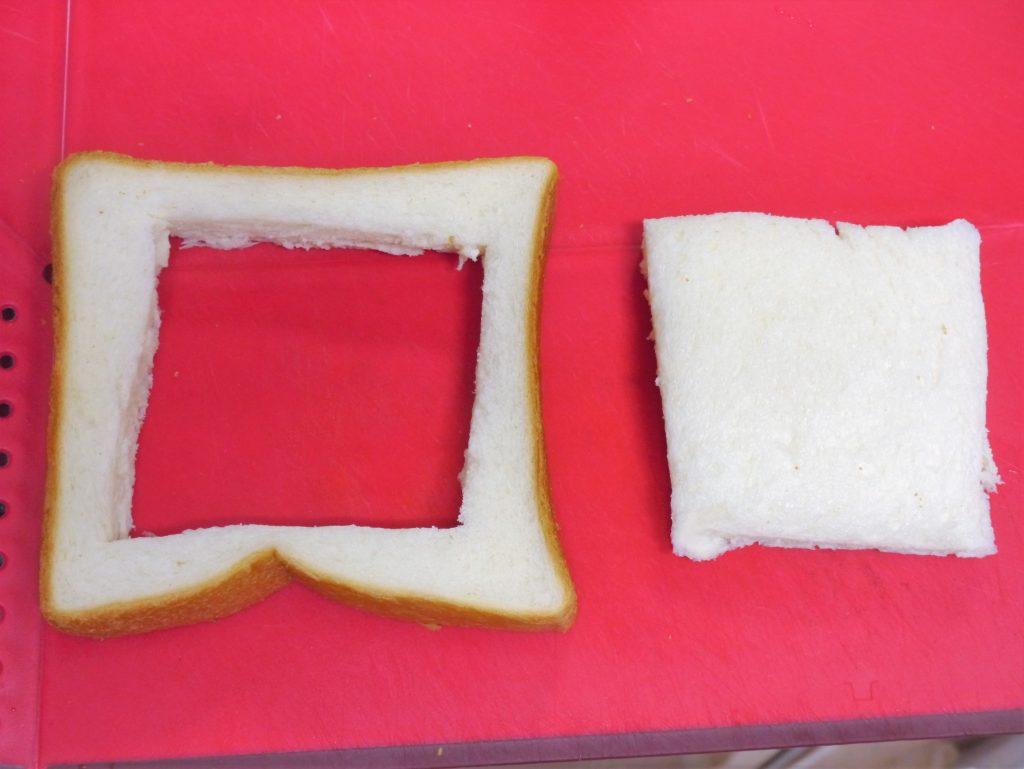 くり抜いた食パン
