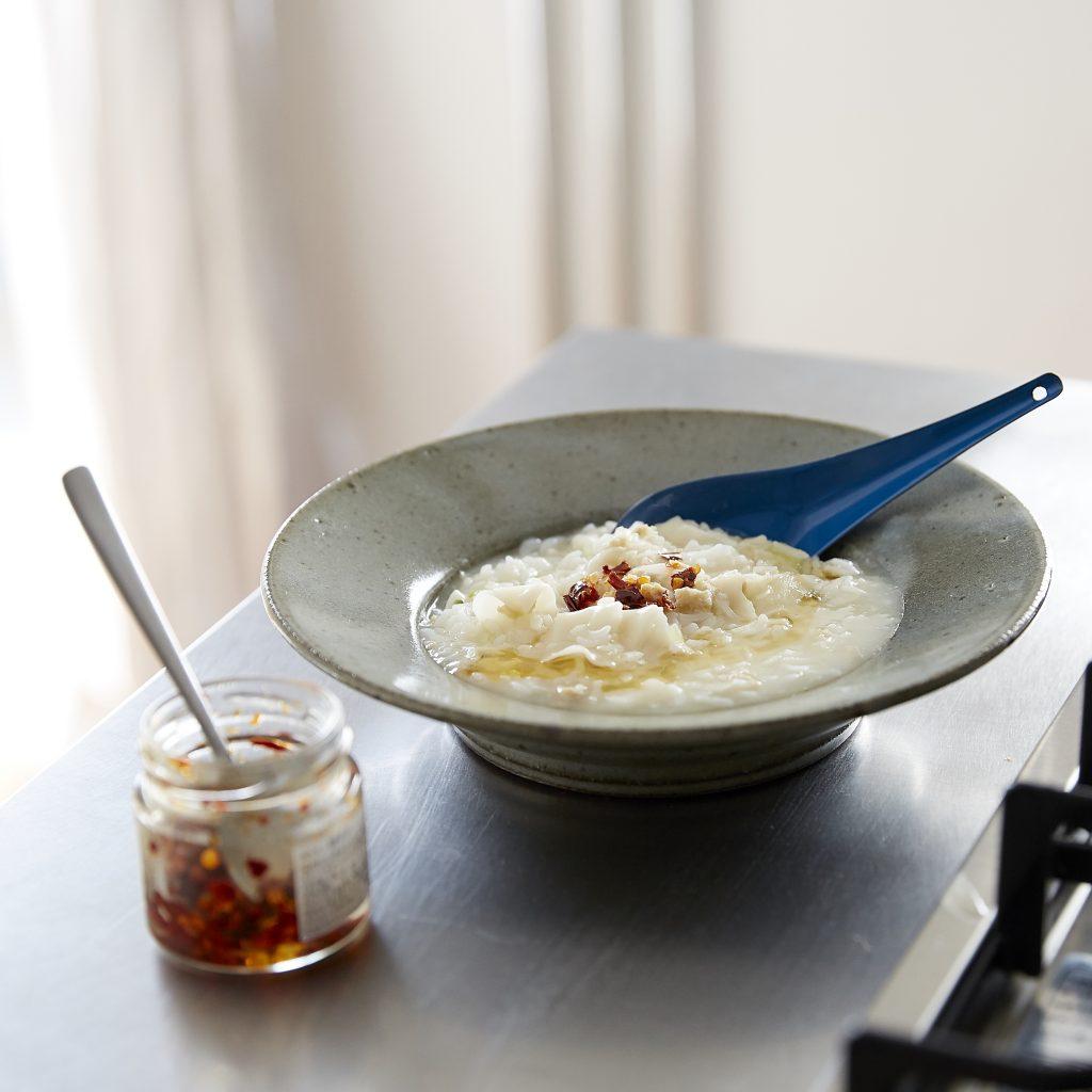冷凍餃子を使えば朝すぐできちゃう!簡単「台湾風おかゆ」