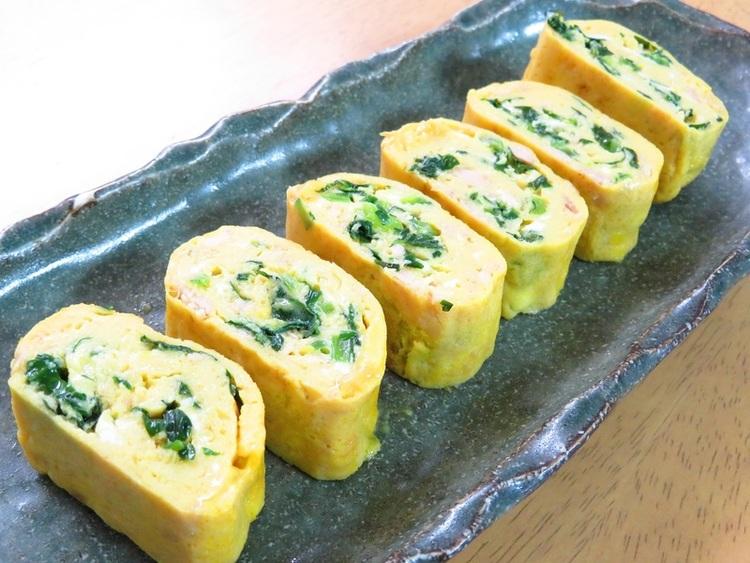 簡単アレンジ卵☆小松菜とツナの卵巻き by:kaana57さん