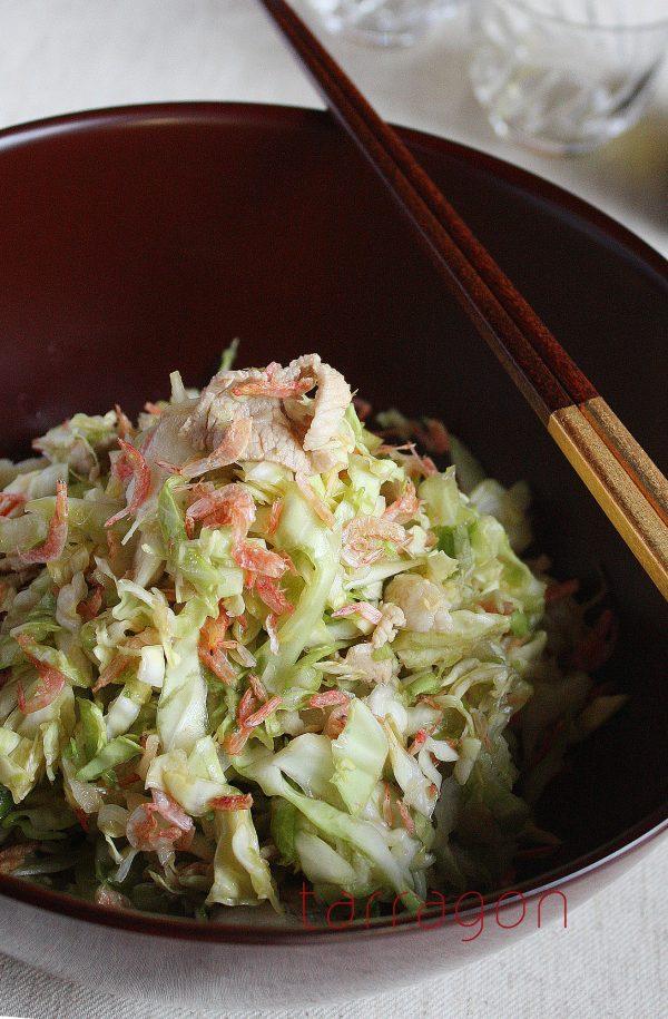 お正月太りをおいしくリセット!塩もみキャベツと茹で豚のサラダ ♪ by:タラゴン(奥津純子)さん