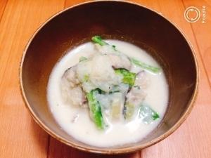 鶏だしで激うま!丸ごとカブのとろとろホワイトスープ by:藤本 あゆみ 美容料理研究家さん