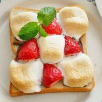 板チョコ×イチゴ×○○で簡単!とろ~り甘い「至福のバレンタイントースト」