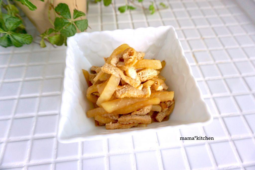 ご飯のお供にちょうどいい♪簡単おいしい「大根と油揚げの甘辛煮」 by:Mayu*さん