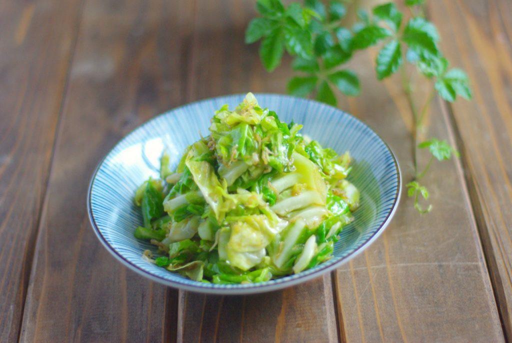 レンチンで時短作り置き!ごま油香る「ゆでキャベツとじゃこのサラダ」 by:Mayu* さん