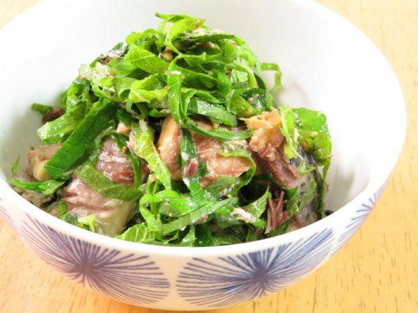 サバ缶で簡単☆鯖のしそ和え by:kaana57さん