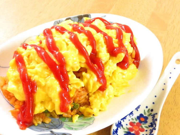 包丁要らずの時短オムライス☆チーズ入り♪ by:kaana57さん