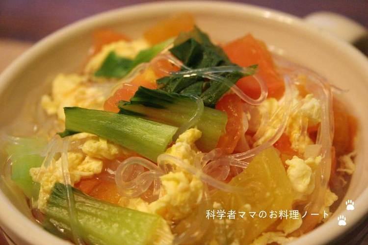 トマトとしょうがの春雨スープ by:nickyさん
