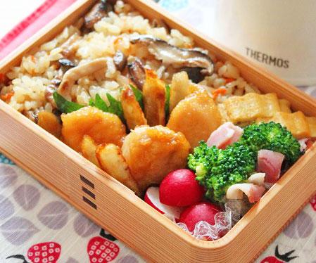 ヘルシーで美味しい!定番にしたい「ささみごぼう」のお弁当 by:料理研究家 かめ代さん