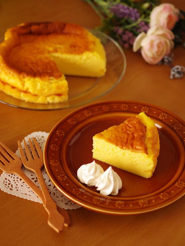 ホットケーキミックス(HM)の簡単&濃厚スフレチーズケーキ by:めろんぱんママさん