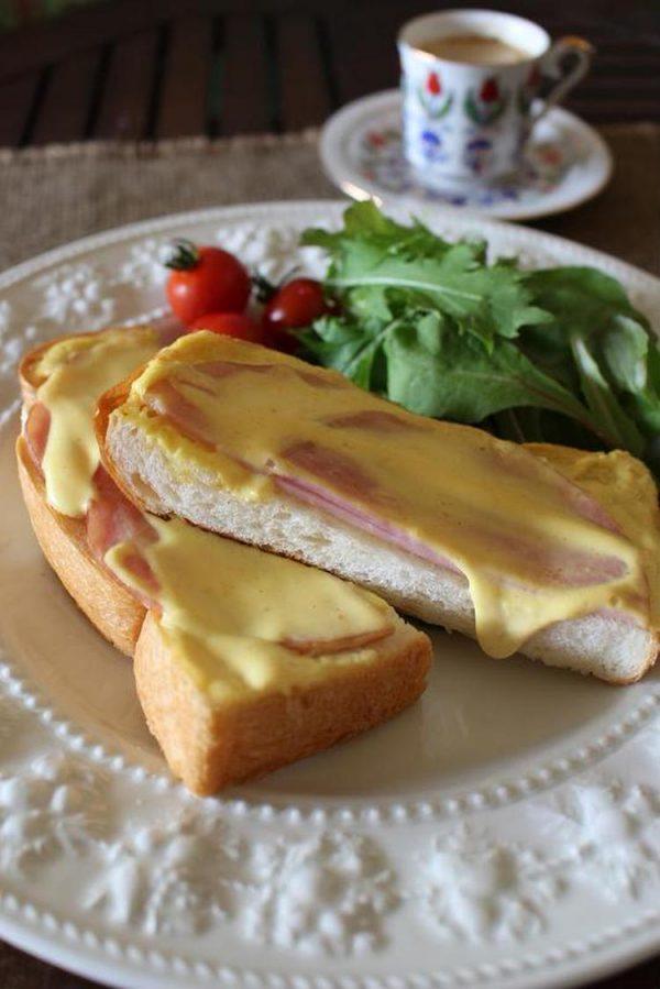 スピードレシピ&時短朝食<ねりからしマヨハムトースト> by:はーい♪にゃん太のママさん