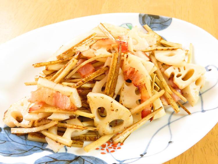 根菜♪ゴボウと蓮根のオリーブオイル炒め by:kaana57さん