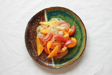 トマトとパプリカのカレーオニオン和え。 by:あいらさん