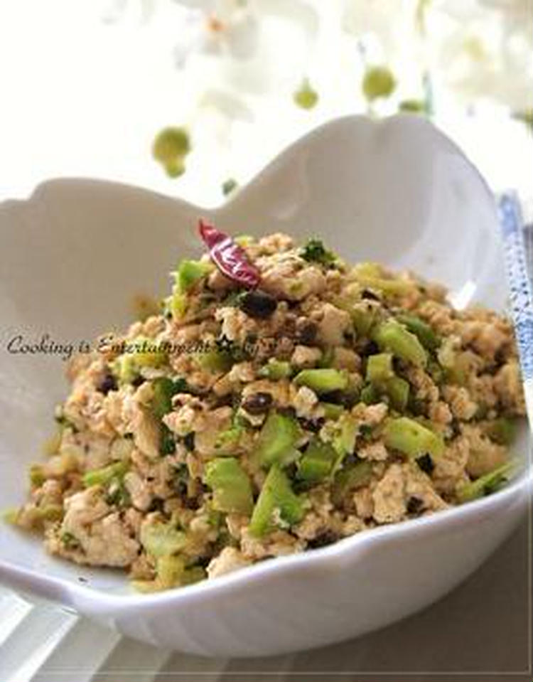 くずし豆腐とブロッコリーの炒め和え by:food townさん