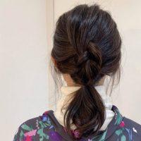 「伸ばしかけヘア」でもピン不要!簡単かわいいゆるふわヘアアレンジ術♪